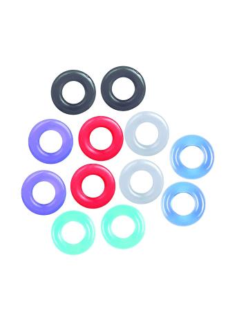The 9's Baller's Dozen 12Pc Cock Ring Set