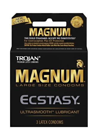 Trojan Magnum Ecstasy Condoms - 3 Pack