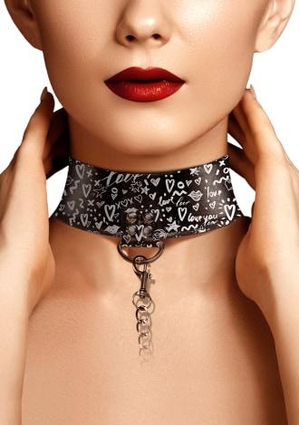 Collar with Leash - Love Street Art Fashion