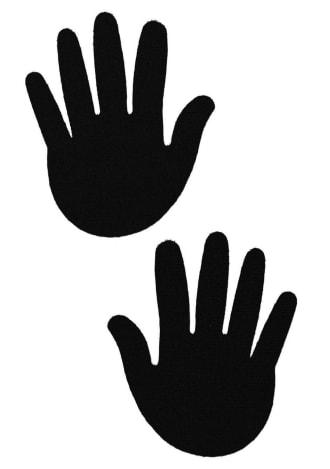 Black Hands Nipple Pasties