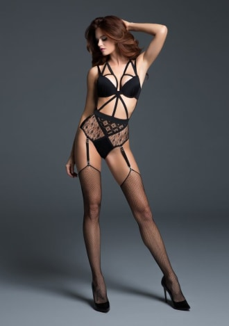 Adore Angel of Love Lace Teddy with Adjustable and Removable Garters