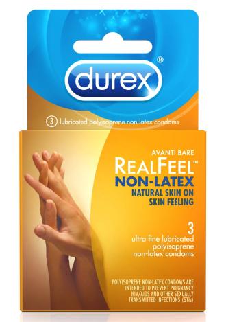 Durex Avanti Real Feel Non-Latex Lubricated Condoms - 3 Pack