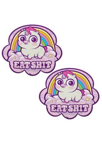 Eat Shit Unicorn Rainbow Cloud Nipple Pasties