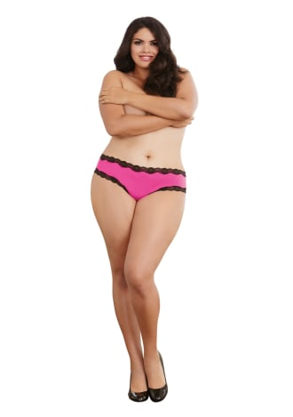 Open Back Panty - Plus Size