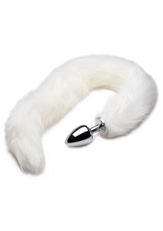Tailz Extra Long Arctic Mink Tail Metal Anal Plug