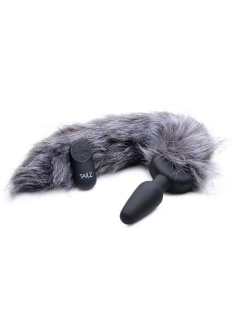 Tailz Grey Fox Tail Vibrating Anal Plug