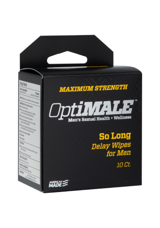 OptiMALE™ - So Long Delay Wipes for Men - 10 ct