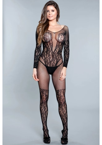 Luv Me Right Bodystocking - Queen Size