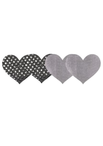 Peekaboos Dark Angel Hearts Pasties