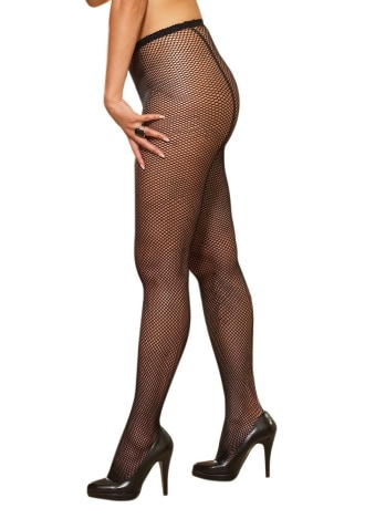 Fishnet Pantyhose with Back Seam - Queen Size