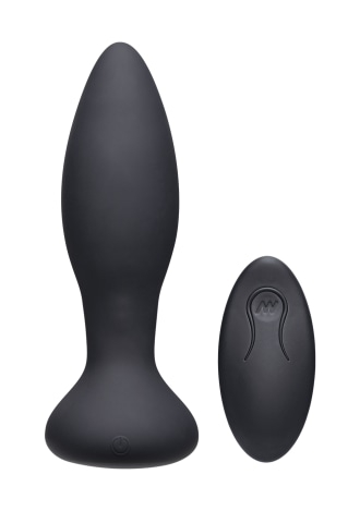 A-Play - Rimmer - Rechargeable Silicone Anal Plug with Remote - Teal
