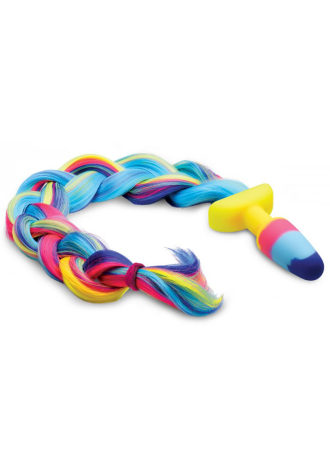 Rainbow Unicorn Tail Anal Plug