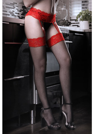I Dare You Lace Gartered Stockings