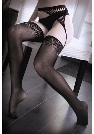 I Don't Mind Net Gartered Stockings