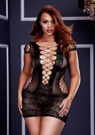 What a Catch Fishnet Mini Dress - Queen Size