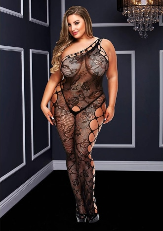Off the Shoulder Bodystocking - Queen Size
