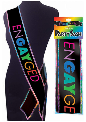 Engayged LGBT Bridal Shower Bachelorette Party Sash