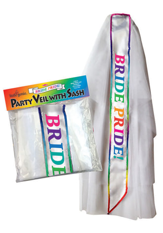 Bride Pride Veil White