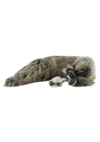 Crystal Delights Minx Tail Plug - Grey Wolf