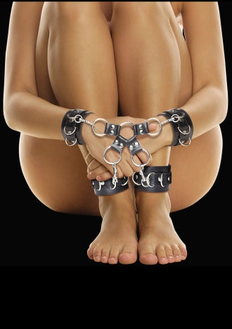 Ouch! Leather Hand and Legcuffs