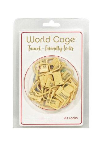 World Cage Travel Friendly Locks - 20 Pack