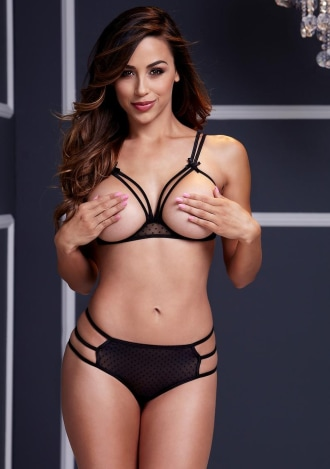 Strappy Open Bra and Panty