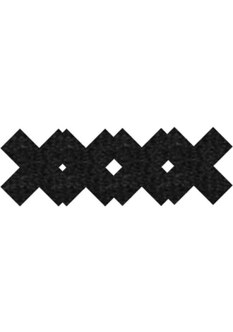 Peekaboos Classic Black X Pasties