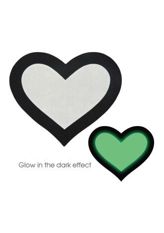 Glow in the Dark Heart Pasties