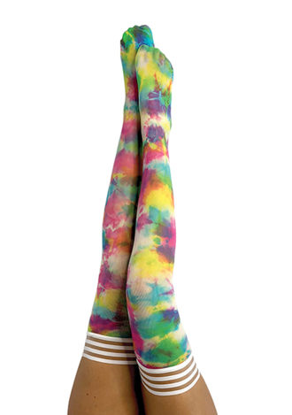 Gilly Tie Dye Thigh Highs