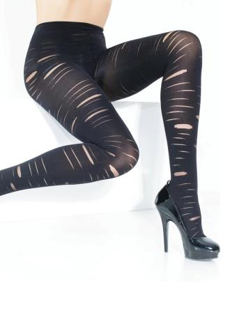 Slashed Opaque Pantyhose