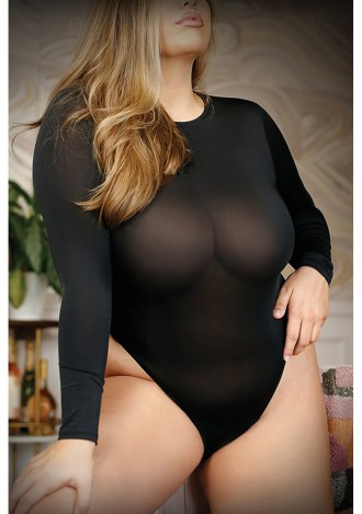 Up All Night Bodysuit - Queen Size