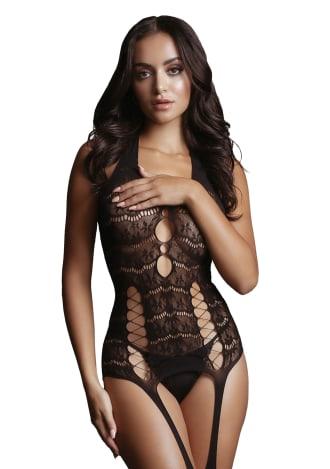 Lace Suspender Bodystocking
