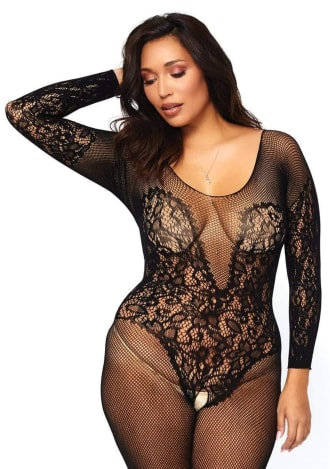 Vine Lace Bodystocking - Queen Size