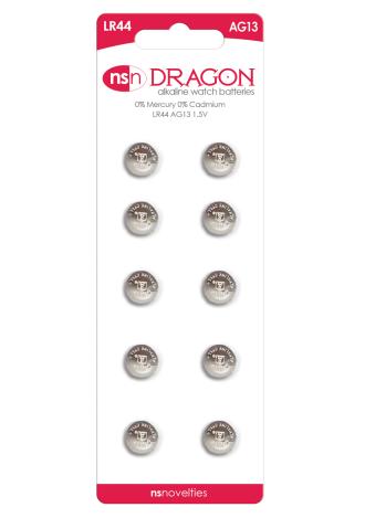 Dragon - Alkaline Watch Batteries - AG13/LR44