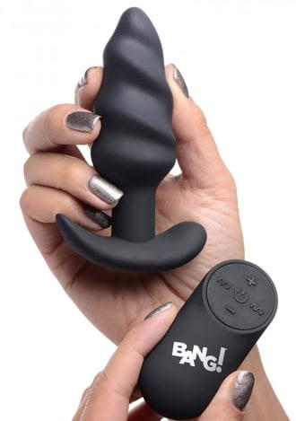 Remote Control 21X Vibrating Silicone Swirl Butt Plug