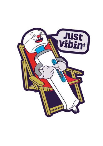 Just Vibin' Pin