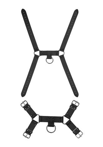 Ouch! Skulls and Bones - Spiked Male Harness