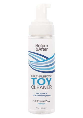 Before and After Foaming Toy Cleaner