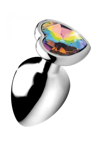 Rainbow Prism Heart Anal Plug