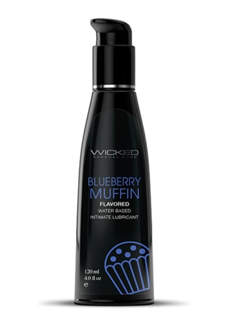 Wicked Sensual Care Water Based Lubricant - Blueberry Muffin