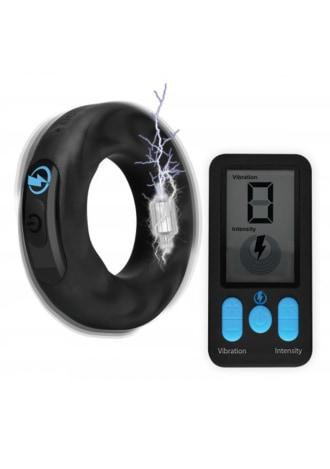 E-Stim Pro Silicone Vibrating Cock Ring with Remote