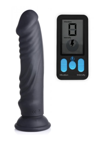 E-Stim Pro 5X Vibrating Dildo with Remote Control