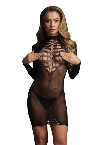 Le Desir Long Sleeve Fishnet Dress