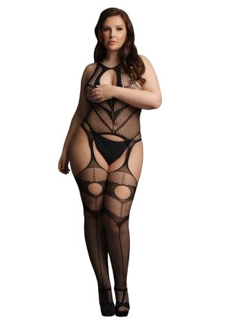 Le Desir Suspender Bodystocking - Queen Size