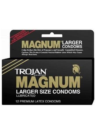 Trojan Magnum Lubricated Condoms - 12 Pack