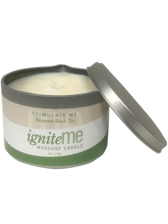 Ignite Me Massage Candle Stimulate Me (Bergamot Black Tea)