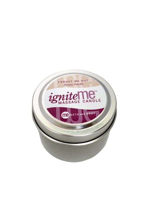 Ignite Me Massage Candle Forget Me Not (Honey Vanilla) Image 1