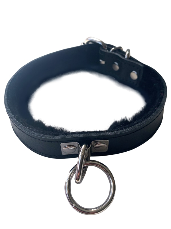 Black Leather Collar Image 0