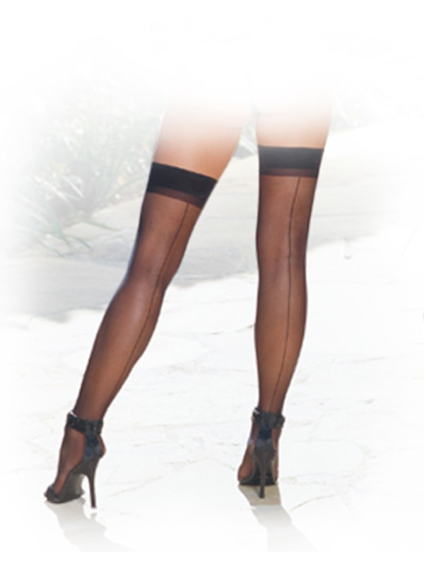 Ooh La La! Sheer Thigh High Stockings Image 0