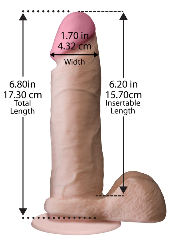 "The Realistic® Cock - With Removable Vac-U-Lock™ Suction Cup - ULTRASKYN™ - 6"" Image 1"